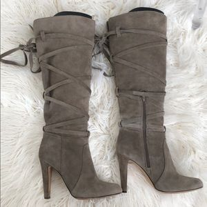 Vince Camuto Knee High Suede Boots Size 7